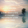 image with quote little hopeful bird