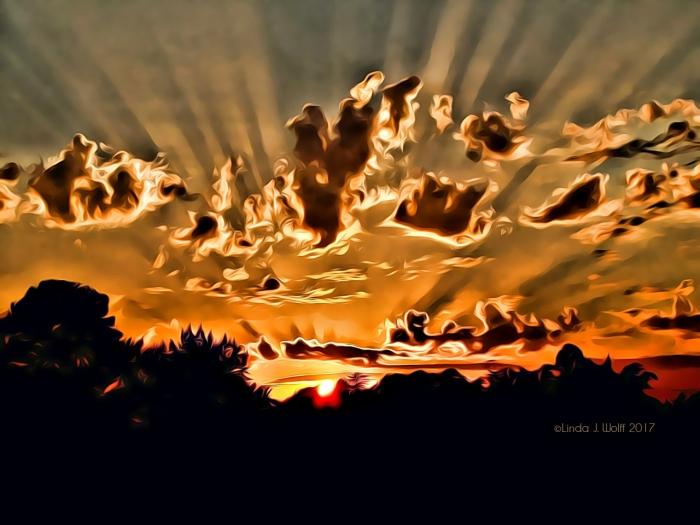 image of sun rising