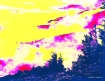 image of landscape in watercolore effect.