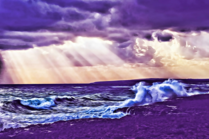 image of storm and sea