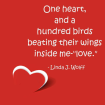 image of quote and heart on red