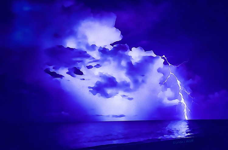 "Image of A free verse poetry, ""Lightning Returns a Strike""."