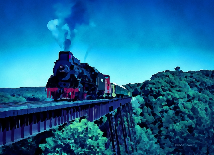 """Image of free verse poetry, """"The Howling Train."""""""