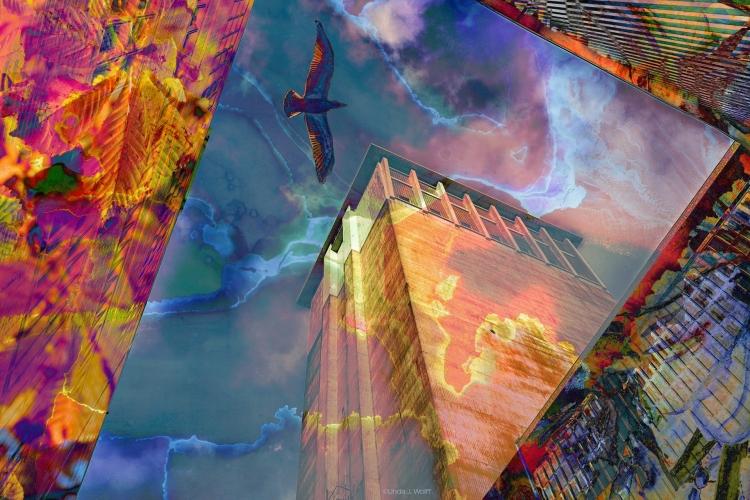 """Image of Urban Ekphrastic Poem: """"In the Air."""""""